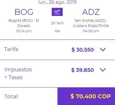 bogota - san andres vuelos baratos