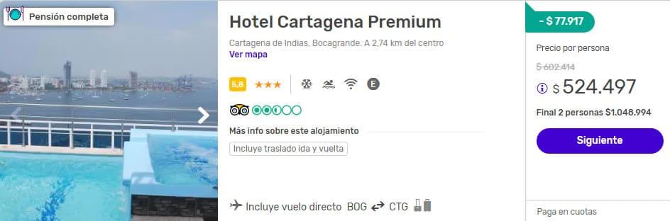 cartagena premium 2x1 despegar