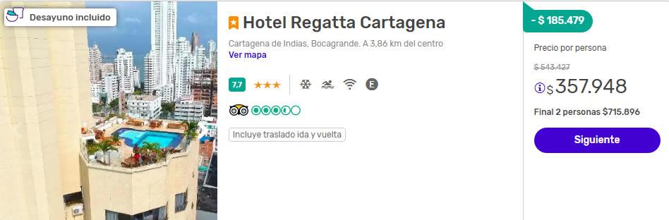 despegar colombia hotel regatta cartagena 2x1
