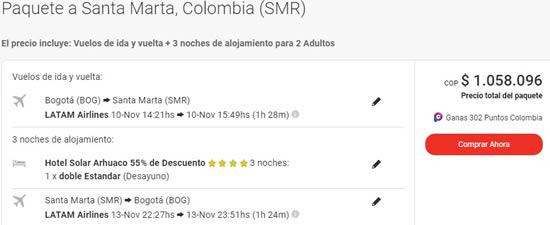 solar arhuaco santa marta 2x1 viajes exito