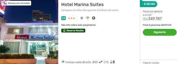 marina suites viajes falabella cartagena 2x1