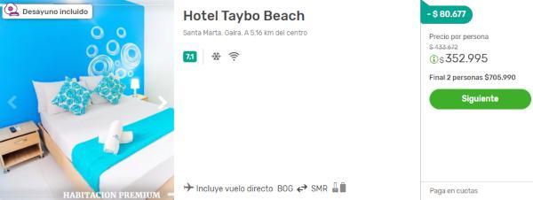 taybo beach viajes falabella 2x1