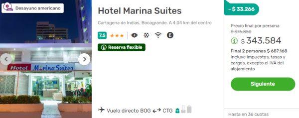 hotel marina suites cartagena 2x1 viajes falabella