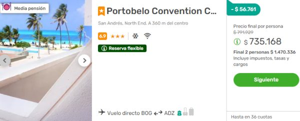 portobelo convention center san andres viajes falabella