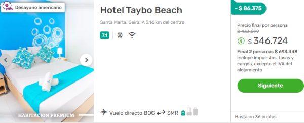 taybo beach santa marta viajes falabella 2x1