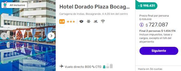 hotel dorado plaza despegar colombia 2x1