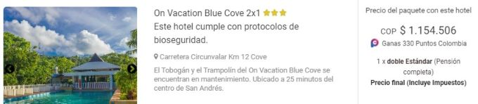 viajes exito on vacation blue cove 2x1
