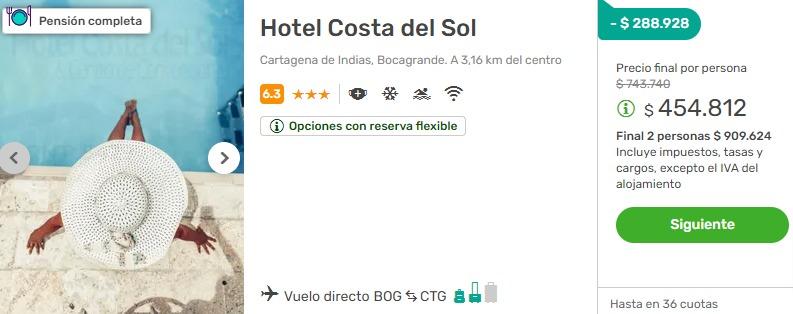 hotel costa del sol viajes falabella 2x1