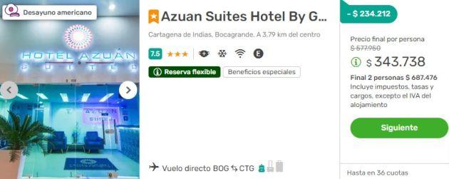 Azuan Suites 2x1 viajes falabella