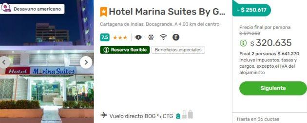 Marina Suites Viajes Falabella 2x1 hot sale