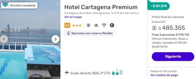 despegar 2x1 cartagena premium colombia