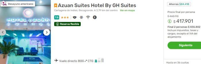 viajes falabella azuan suites cartagena
